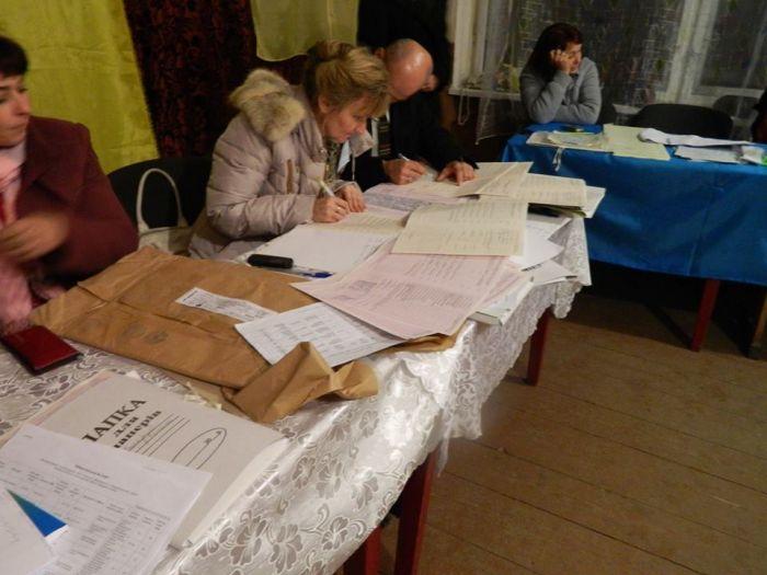 На ДВК в Репинному ще о 13.00 почали ставити підписи під пустими бланками протоколів